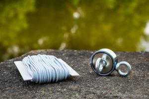 Magnet o síle 2x 310 kg a lano pro magnet fishing.