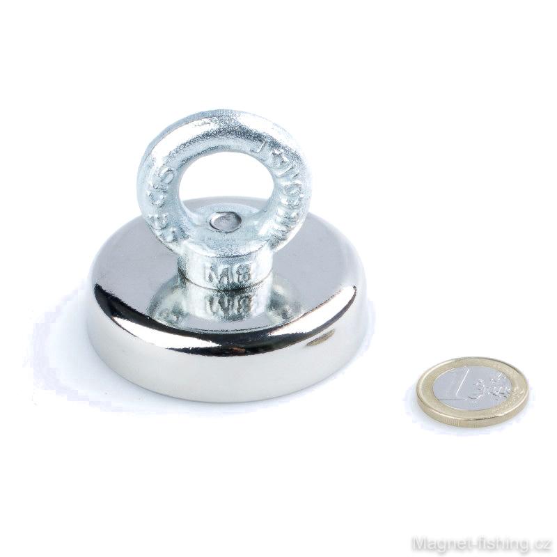 Magnet pro lovce pokladů M-9 na magnet fishing, magnetická síla 135 kg.